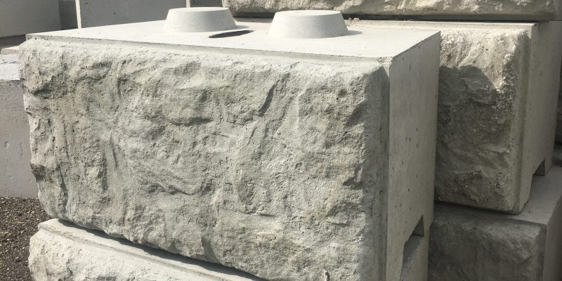We sell Large retaining wall blocks 4' X 2' X 2'